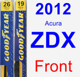 Front Wiper Blade Pack for 2012 Acura ZDX - Premium