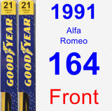 Front Wiper Blade Pack for 1991 Alfa Romeo 164 - Premium