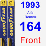 Front Wiper Blade Pack for 1993 Alfa Romeo 164 - Premium