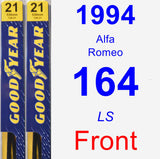 Front Wiper Blade Pack for 1994 Alfa Romeo 164 - Premium
