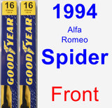 Front Wiper Blade Pack for 1994 Alfa Romeo Spider - Premium