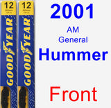Front Wiper Blade Pack for 2001 AM General Hummer - Premium