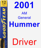 Driver Wiper Blade for 2001 AM General Hummer - Premium