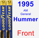 Front Wiper Blade Pack for 1995 AM General Hummer - Premium