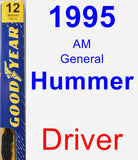 Driver Wiper Blade for 1995 AM General Hummer - Premium