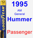 Passenger Wiper Blade for 1995 AM General Hummer - Premium