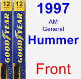 Front Wiper Blade Pack for 1997 AM General Hummer - Premium