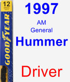 Driver Wiper Blade for 1997 AM General Hummer - Premium