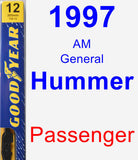Passenger Wiper Blade for 1997 AM General Hummer - Premium
