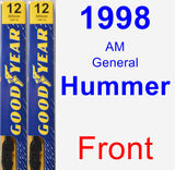 Front Wiper Blade Pack for 1998 AM General Hummer - Premium