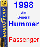 Passenger Wiper Blade for 1998 AM General Hummer - Premium