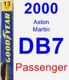 Passenger Wiper Blade for 2000 Aston Martin DB7 - Premium