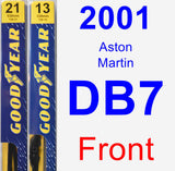 Front Wiper Blade Pack for 2001 Aston Martin DB7 - Premium
