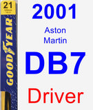Driver Wiper Blade for 2001 Aston Martin DB7 - Premium