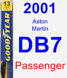 Passenger Wiper Blade for 2001 Aston Martin DB7 - Premium