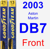 Front Wiper Blade Pack for 2003 Aston Martin DB7 - Premium