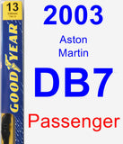 Passenger Wiper Blade for 2003 Aston Martin DB7 - Premium