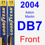 Front Wiper Blade Pack for 2004 Aston Martin DB7 - Premium