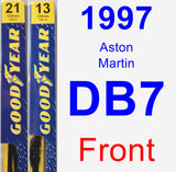 Front Wiper Blade Pack for 1997 Aston Martin DB7 - Premium