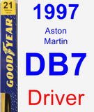 Driver Wiper Blade for 1997 Aston Martin DB7 - Premium