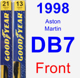Front Wiper Blade Pack for 1998 Aston Martin DB7 - Premium