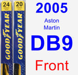 Front Wiper Blade Pack for 2005 Aston Martin DB9 - Premium