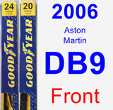 Front Wiper Blade Pack for 2006 Aston Martin DB9 - Premium