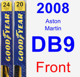 Front Wiper Blade Pack for 2008 Aston Martin DB9 - Premium