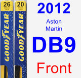 Front Wiper Blade Pack for 2012 Aston Martin DB9 - Premium