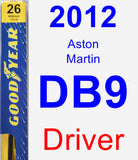 Driver Wiper Blade for 2012 Aston Martin DB9 - Premium
