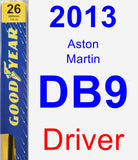 Driver Wiper Blade for 2013 Aston Martin DB9 - Premium