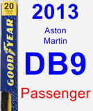 Passenger Wiper Blade for 2013 Aston Martin DB9 - Premium
