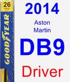Driver Wiper Blade for 2014 Aston Martin DB9 - Premium