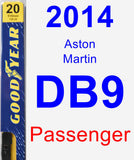 Passenger Wiper Blade for 2014 Aston Martin DB9 - Premium