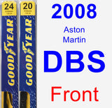 Front Wiper Blade Pack for 2008 Aston Martin DBS - Premium