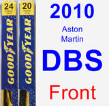 Front Wiper Blade Pack for 2010 Aston Martin DBS - Premium
