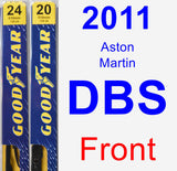 Front Wiper Blade Pack for 2011 Aston Martin DBS - Premium