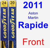 Front Wiper Blade Pack for 2011 Aston Martin Rapide - Premium