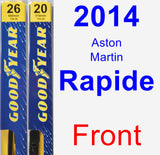 Front Wiper Blade Pack for 2014 Aston Martin Rapide - Premium