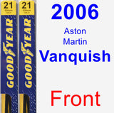 Front Wiper Blade Pack for 2006 Aston Martin Vanquish - Premium