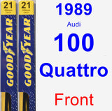 Front Wiper Blade Pack for 1989 Audi 100 Quattro - Premium