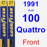 Front Wiper Blade Pack for 1991 Audi 100 Quattro - Premium