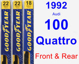 Front & Rear Wiper Blade Pack for 1992 Audi 100 Quattro - Premium