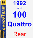Rear Wiper Blade for 1992 Audi 100 Quattro - Premium