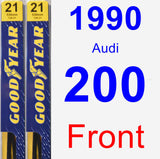 Front Wiper Blade Pack for 1990 Audi 200 - Premium