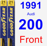 Front Wiper Blade Pack for 1991 Audi 200 - Premium
