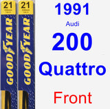 Front Wiper Blade Pack for 1991 Audi 200 Quattro - Premium