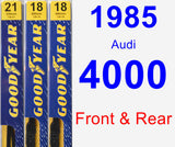 Front & Rear Wiper Blade Pack for 1985 Audi 4000 - Premium