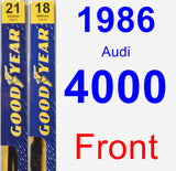 Front Wiper Blade Pack for 1986 Audi 4000 - Premium