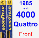 Front Wiper Blade Pack for 1985 Audi 4000 Quattro - Premium